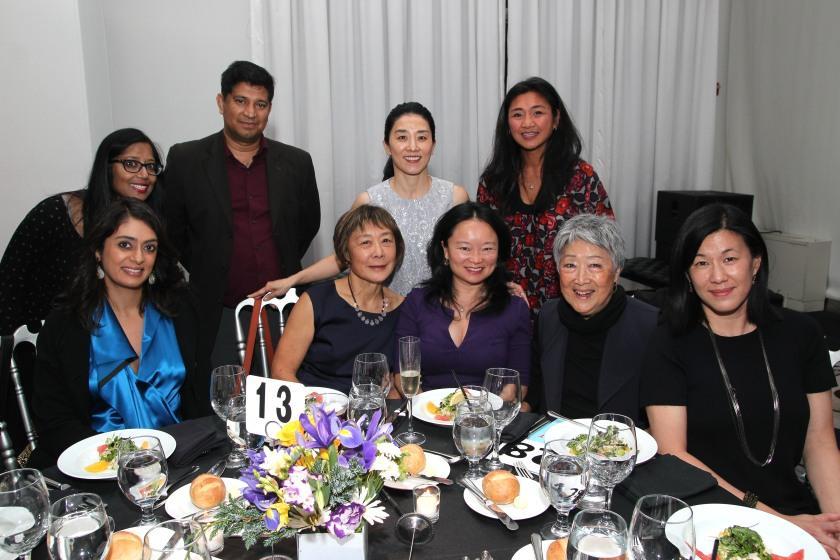 Tuhina De O'Connor, guests, Joyce Yu, Bomsinae Kim, Vivian Tseng, Sonjie Feliciano Solomon, Aiyoung Choi and Angie Wang. Photo by Lia Chang