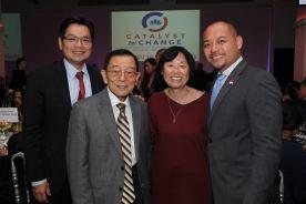 Wayne Ho and guests. Photo by Lia Chang