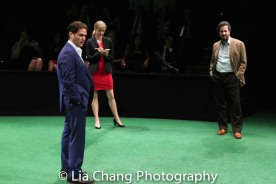 Steven Pasquale, Carole Hewitt and Matthew Saldivar. Photo by Lia Chang