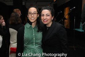 Lauren Yee and Seattle Rep's Literary Director Kristin Leahy. Photo by Lia Chang