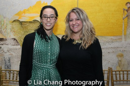 2017 Kesselring Prize Winner Lauren Yee and 2016 Kesselring Prize Winner Lindsey Ferrentino. Photo by Lia Chang