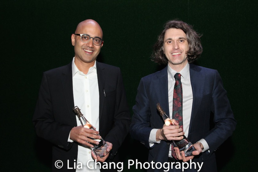 2017 honorees Ayad Akhtar and Lucas Hnath. Photo by Lia Chang