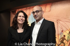 Signature Theatre Company's Artistic Director Paige Evans and honoree Ayad Akhtar. Photo by Lia Chang