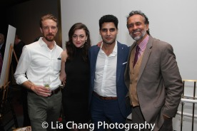 A guest, Eden Malyn, Babak Tafti and Bernard White. Photo by Lia Chang