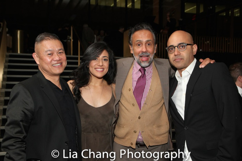 Chay Yew, Nadine Malouf, Bernard White and Ayad Akhtar. Photo by Lia Chang