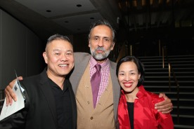 Chay Yew, Bernard White and Lia Chang. Photo by Garth Kravits
