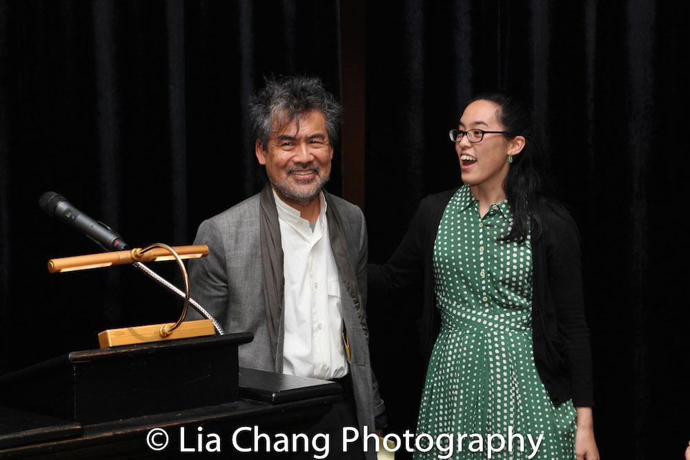 David Henry Hwang and Lauren Yee. Photo by Lia Chang