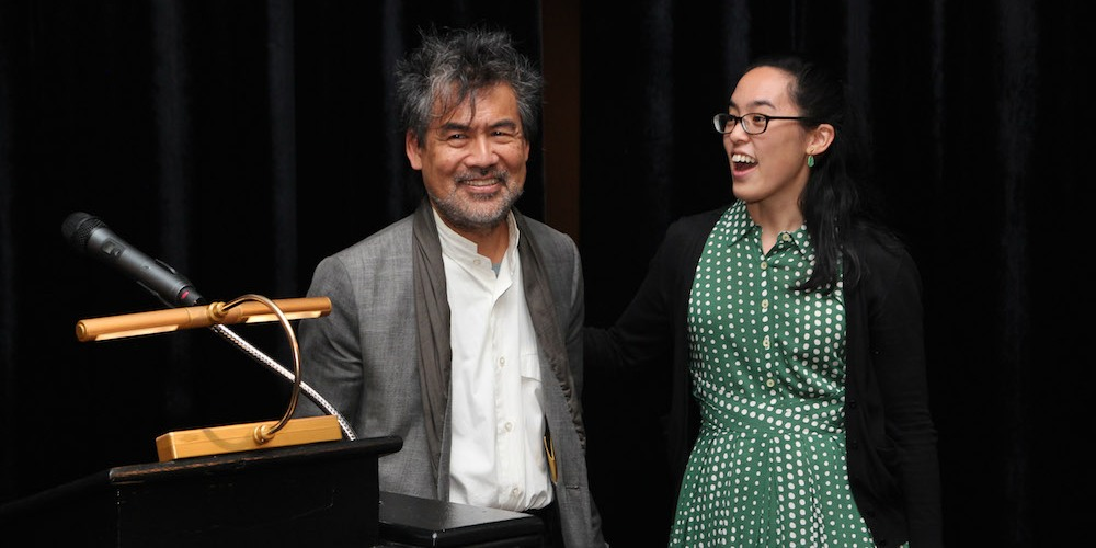 David Henry Hwang and Lauren Yee. Photo by Lia Chang