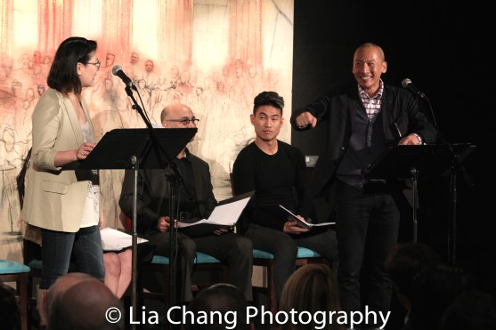 Jennifer Lim, Ned Eisenberg, Tobias C. Wong and Francis Jue. Photo by Lia Chang