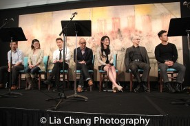 Joe Ngo, Jennifer Lim, Daniel K. Isaac, Francis Jue, Jeena Yi, Ned Eisenberg and Tobias C. Wong. Photo by Lia Chang