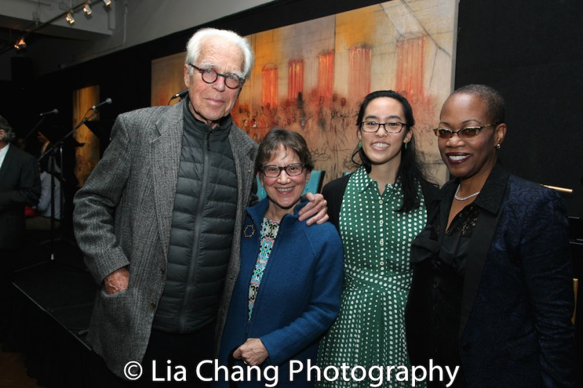 John Guare, Anne Cattaneo, Lauren Yee and Regina Taylor. Photo by Lia Chang
