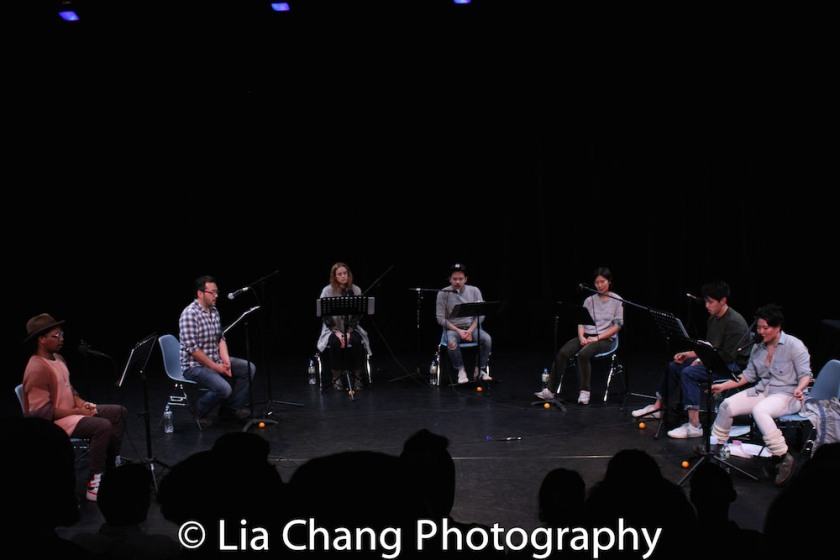 Keelay Gipson, David Shih, Teal Wicks, Jon Norman Schneider, Jihae Park, Julian Leong and Diana Oh. Photo by Lia Chang