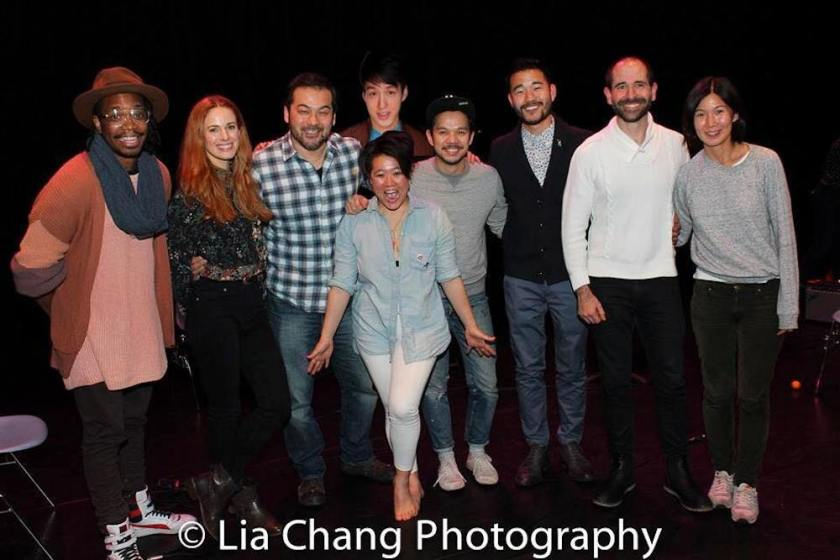 Keelay Gipson, Teal Wicks, David Shih, Diana Oh, Julian Leong, Jon Norman Schneider, Daniel K. Isaac, Carlos Armesto and Jihae Park. Photo by Lia Chang