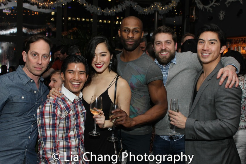 Garth Kravits, Christopher Vo, Tiffany Toh, Taurean Everett, a guest and Devin Ilaw. Photo by Lia Chang