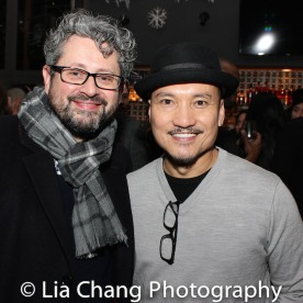 Director Laurence Connor and Jon Jon Briones. Photo by Lia Chang