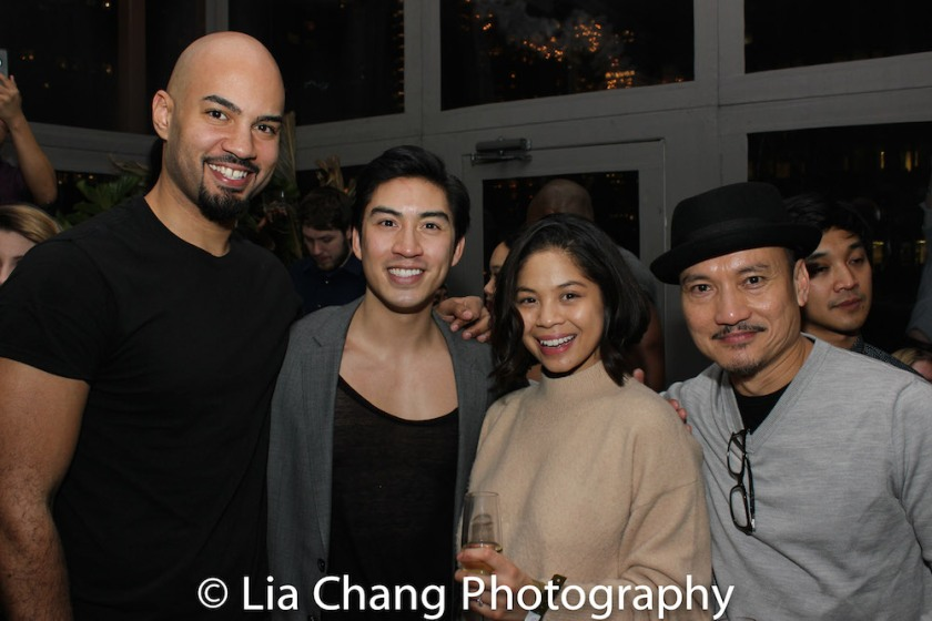 Nicholas Christopher, Devin Ilaw, Eva Noblezada, Jon Jon Briones. Photo by Lia Chang