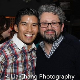 Christopher Vo and Director Laurence Connor. Photo by Lia Chang