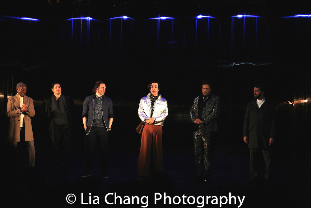 André De Shields, Ariel Shafir, Anson Mount, Bobby Moreno, David Ryan Smith and Stephen Schnetzer. Photo by Lia Chang