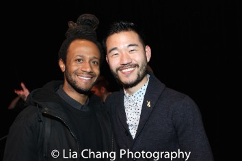 Playwrights Korde Tuttle and Daniel K. Isaac. DKI Photo by Lia Chang