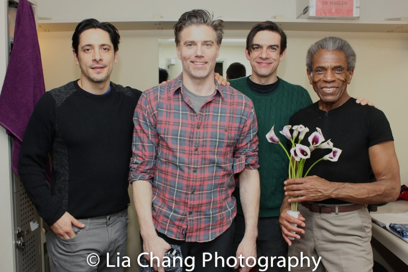 Ariel Shafir, Anson Mount, Bobby Moreno and André De Shields. Photo by Lia Chang