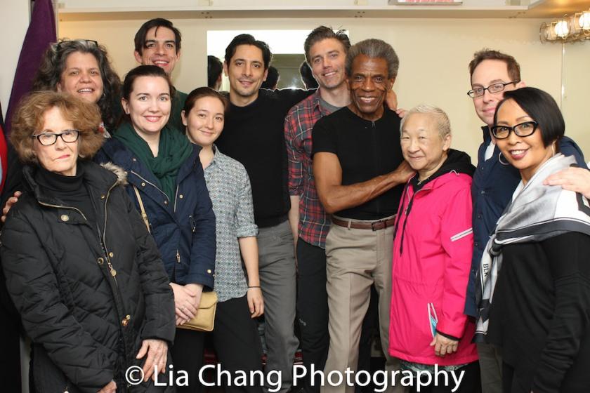 Joan Jeffri, Traci DiGesu, Jessica Hernandez, Bobby Moreno, Cassey Kivnick. André De Shields. Photo by Lia Chang