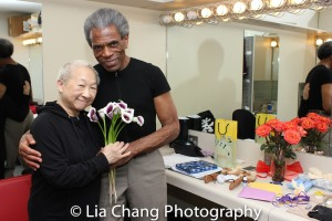 Lori Tan Chinn and André De Shields. Photo by Lia Chang