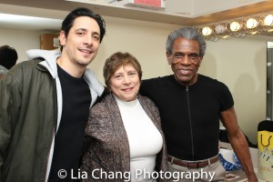Ariel Shafir, Talia Shafir and André De Shields. Photo by Lia Chang