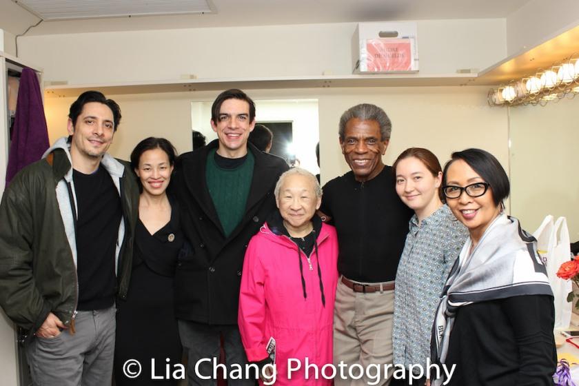 Ariel Shafir, Lia Chang, Bobby Moreno, Lori Tan Chinn, André De Shields, Cassey Civnick and Emilya Cachapero. Photo by Lia Chang