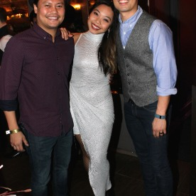 Julius Sermonia, Kimberly-Ann Truong and Jason Sermonia. Photo by Lia Chang