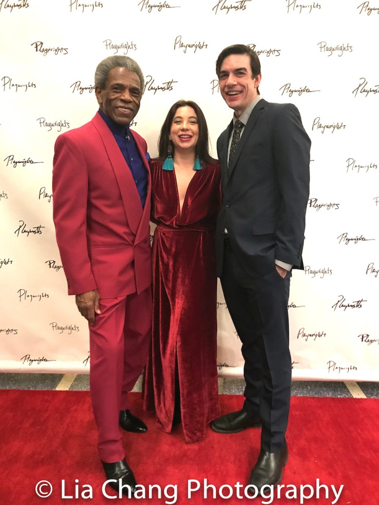 André De Shields, Hilary Bettis and Bobby Moreno. Photo by Lia Chang