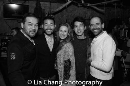 David Shih, Daniel K. Isaac, Teal Wicks, Julian Leong and Carlos Armesto. Photo by Lia Chang