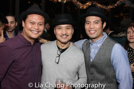 Julius Sermonia, Jon Jon Briones, Jason Sermonia Photo by Lia Chang