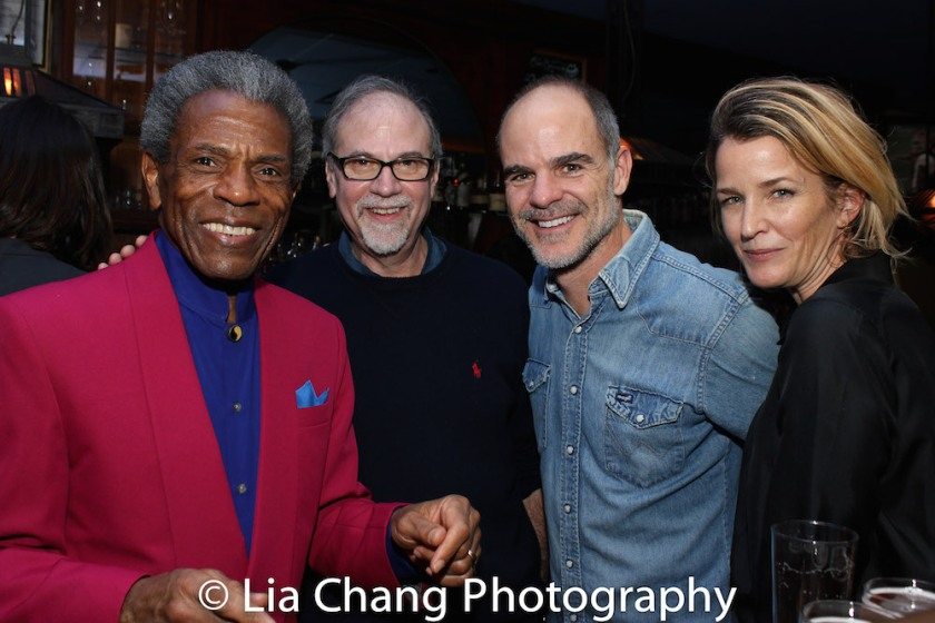 André De Shields, Ken Melamed, Michael Kelly and Karyn Mendel. Photo by Lia Chang