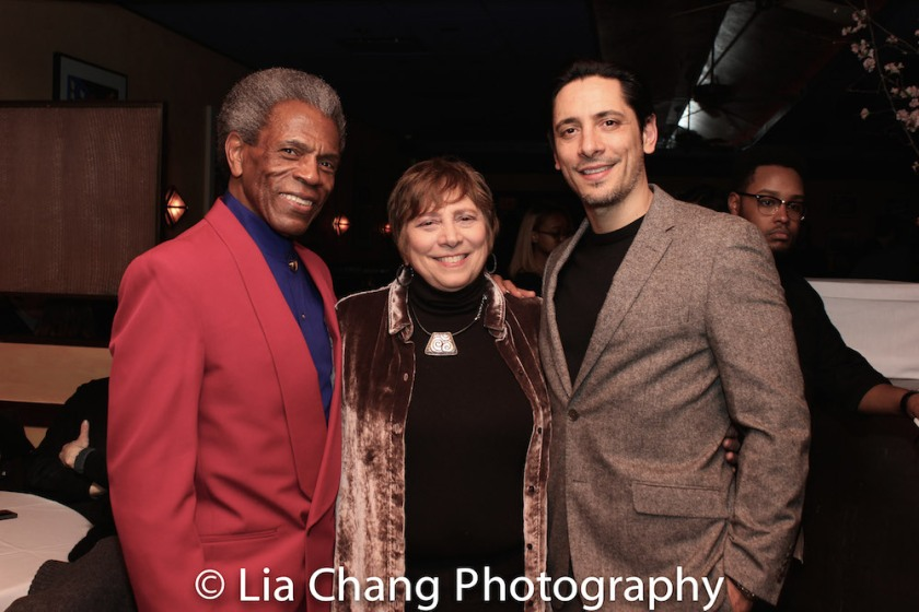 André De Shields, Mrs. Shafir and Ariel Shafir. Photo by Lia Chang