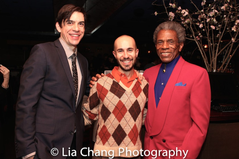 Bobby Moreno, Shawn Shafner and André De Shields. Photo by Lia Chang