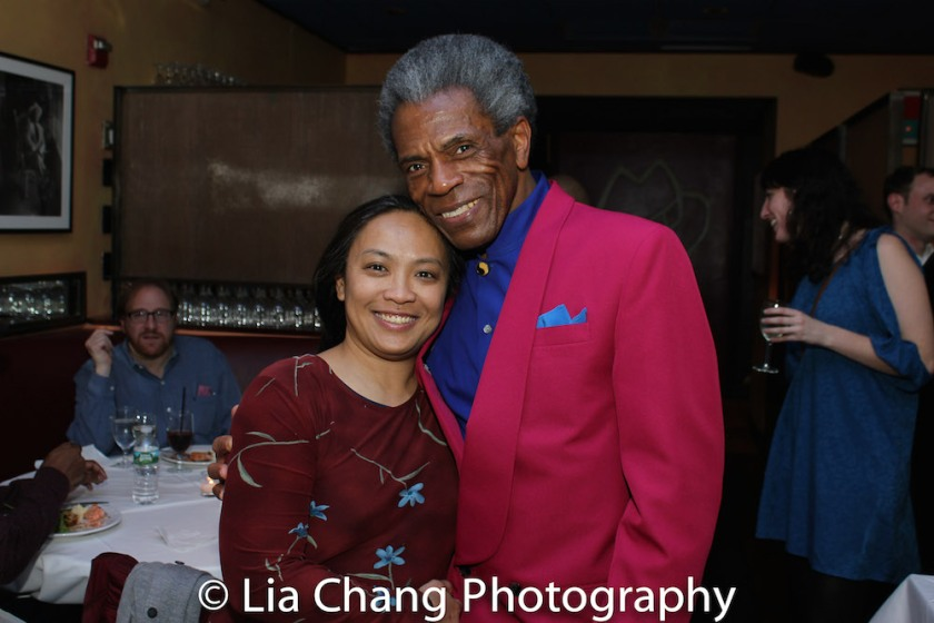 Caroline Aquino and André De Shields. Photo by Lia Chang