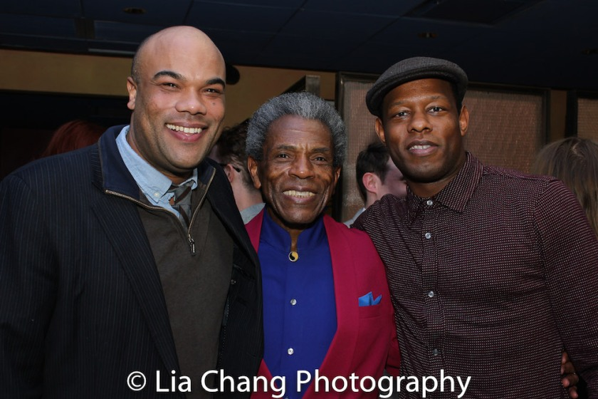 David Ryan Smith, André De Shields and Korey Jackson. Photo by Lia Chang