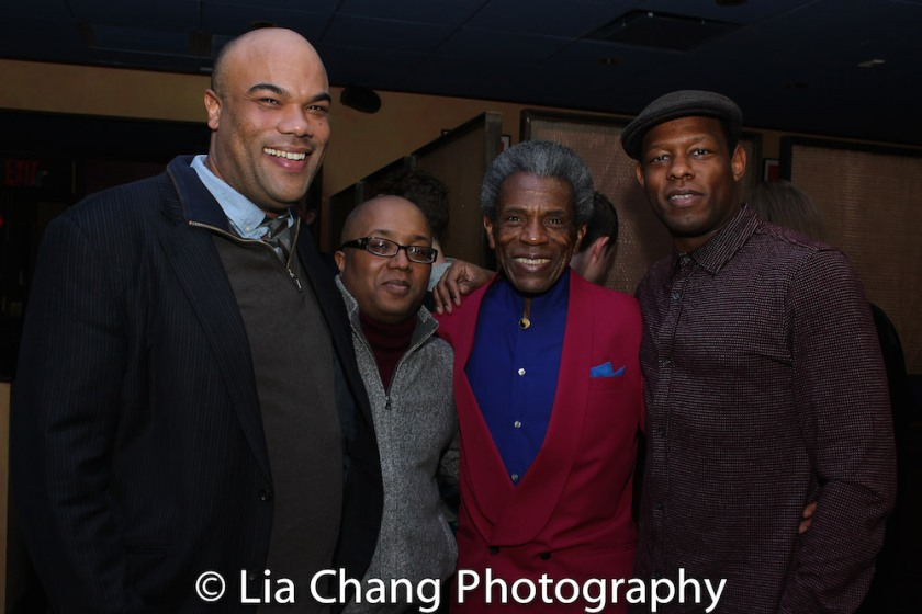 David Ryan Smith, Robert O'Hara, André De Shields and Korey Jackson. Photo by Lia Chang