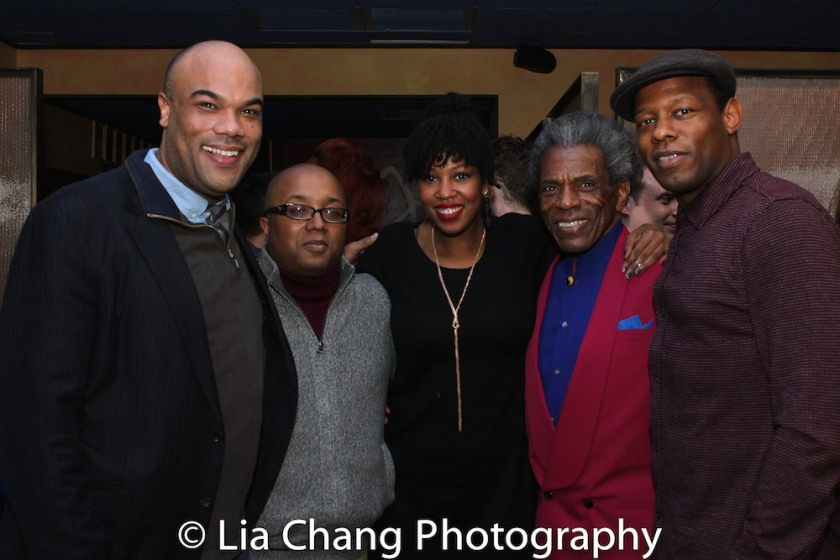 David Ryan Smith, Robert O'Hara, Marinda Anderson, André De Shields and Korey Jackson. Photo by Lia Chang