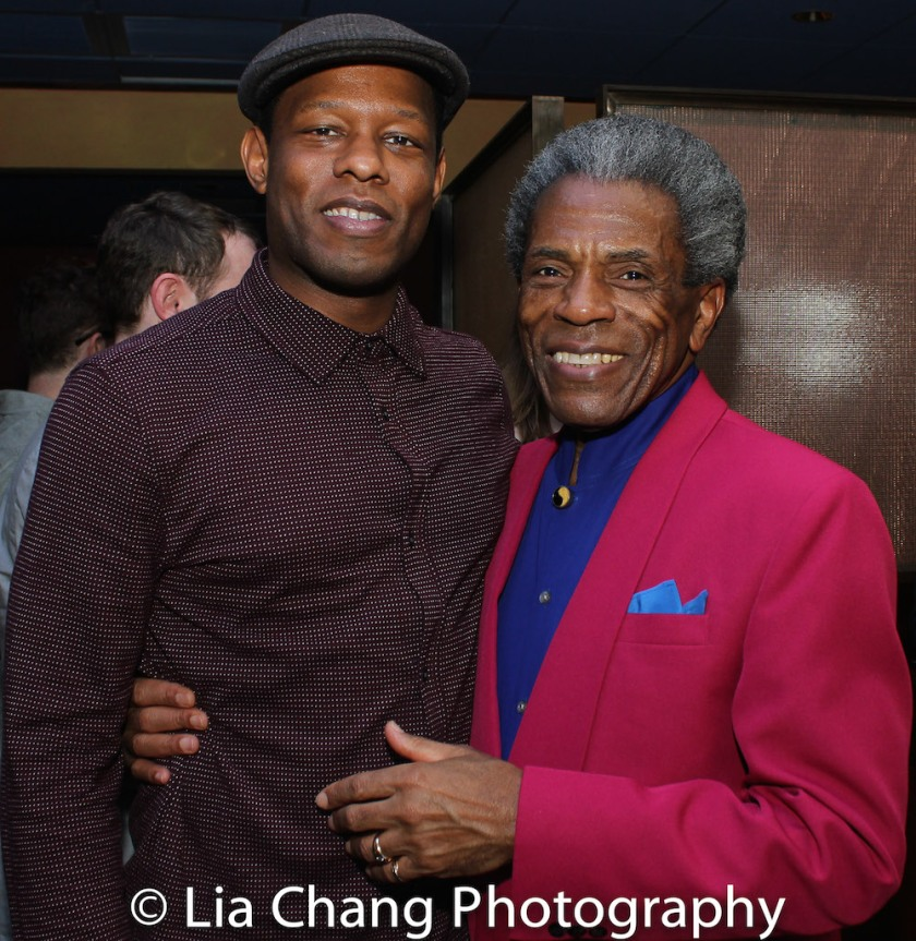 Korey Jackson and André De Shields. Photo by Lia Chang