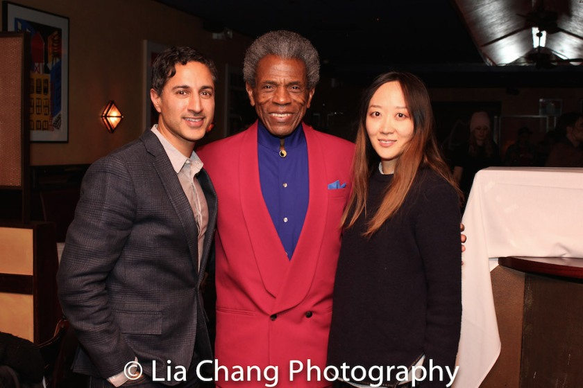 Maulik Pancholy, Andre De Shields and Sue Jean Kim. Photo by Lia Chang
