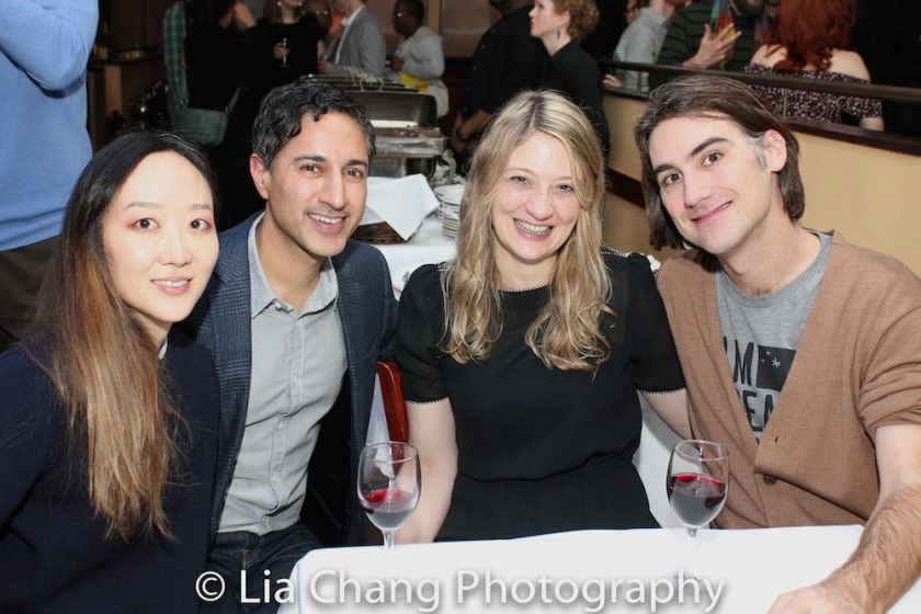 Sue Jean Kim, Maulik Pancholy, Heidi Schreck and Kip Fagan. Photo by Lia Chang