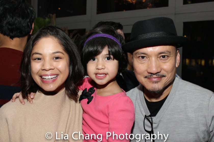 Eva Noblezada, Edelle Rapada, Jon Jon Briones. Photo by Lia Chang