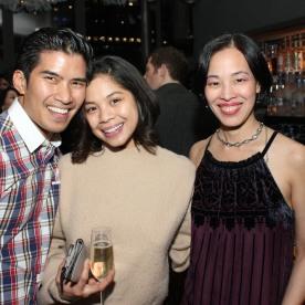Christopher Vo, Eva Noblezada and Lia Chang. Photo by Garth Kravits