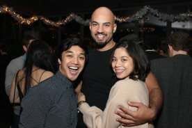 Julian DeGuzman, Nicholas Christopher and Eva Noblezada. Photo by Lia Chang