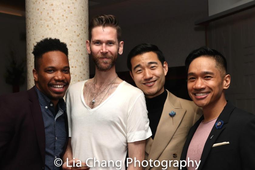 Keelay Gipson, Philip Dawkins, Daniel K. Isaac and Bryan Bosque. Photo by Lia Chang