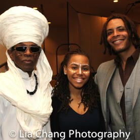 André De Shields, Eboni Latay Edwards and her father Omar Edwards. Photo by Lia Chang