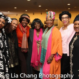 Marjorie Johnson, Marie E. Nelson, Grace Jones, Ellyn Marshall, Natalie Carter Prince, Tina Fabrique. Photo by Lia Chang