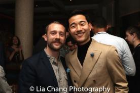 Dialect coach Ron Carlos and Daniel K. Isaac. Photo by Lia Chang