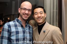 Lighting Designer Zach Blane and Daniel K. Isaac. Photo by Lia Chang